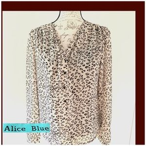 Alice Blue Animalistic print Blouse